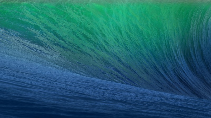 OSX, 5k, 4k wallpaper, 8k, Wave, Blue, Big (horizontal)