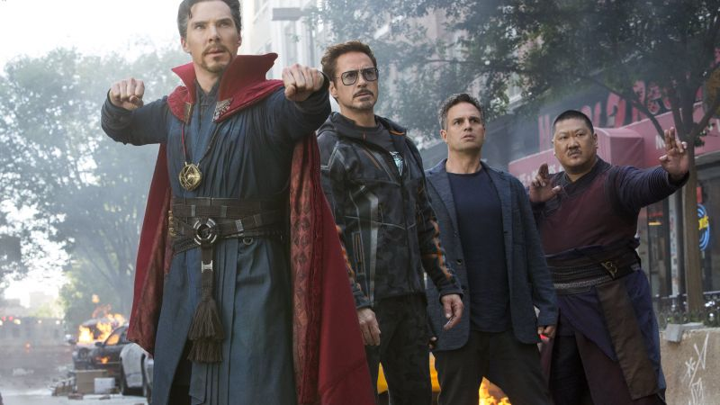 Avengers: Infinity War, Doctor Strange, Hulk, Iron Man, Benedict Cumberbatch, Robert Downey Jr., Mark Ruffalo, 5k (horizontal)