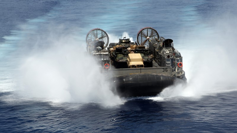 hovercraft, LCAC, Assault Craft Unit, U.S. Navy, LCAC 1, sea, training (horizontal)