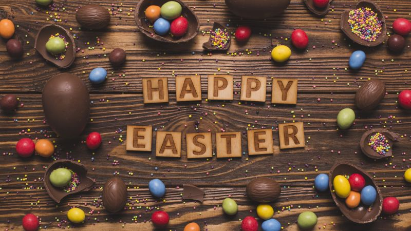 Easter, eggs, candy, chocolate, 5k (horizontal)