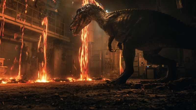 Jurassic World: Fallen Kingdom, dinosaur, 5k (horizontal)