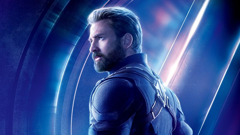 Avengers: Infinity War, Captain America, Chris Evans, 8k (horizontal)