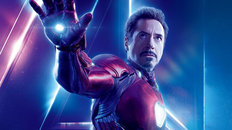 Avengers: Infinity War, Robert Downey Jr., Iron Man, Tony Stark, 8k (horizontal)