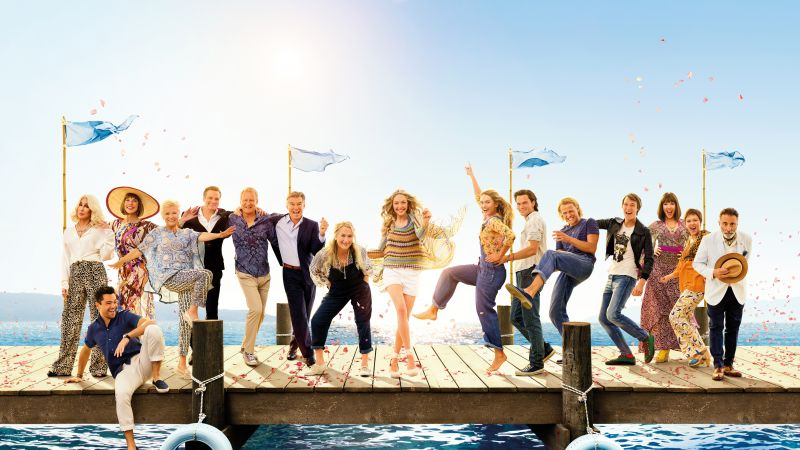 Mamma Mia! Here We Go Again, Christine Baranski, Julie Walters, Amanda Seyfried, Pierce Brosnan, 5k (horizontal)