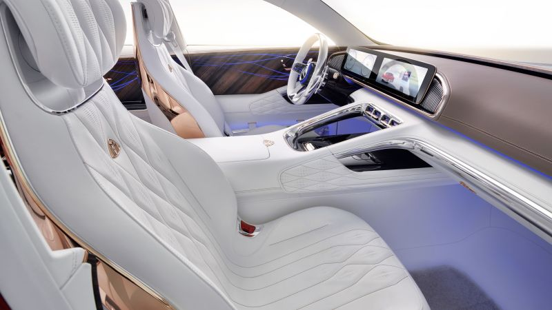 Vision Mercedes-Maybach Ultimate Luxury, electric cars, interior, 5k (horizontal)