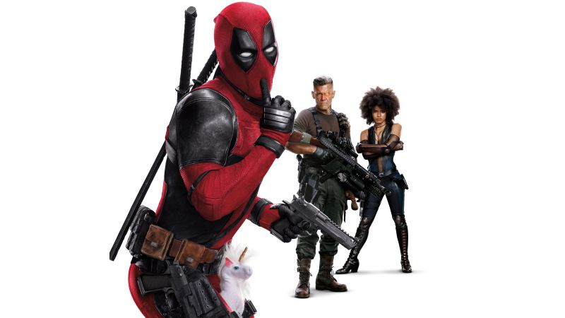 Deadpool 2, Zazie Beetz, Ryan Reynolds, Josh Brolin, 8k (horizontal)