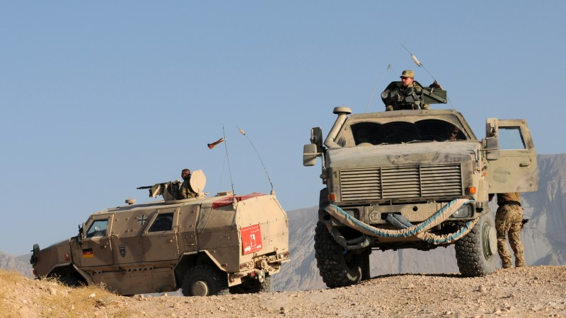 ATF Dingo, KMW, infantry mobility vehicle, MPPV PC, soldier, Afghanistan, Bundeswehr (horizontal)