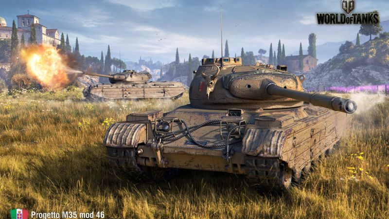 World of Tanks 1.0, Progetto 46, Italian tanks, 4K (horizontal)