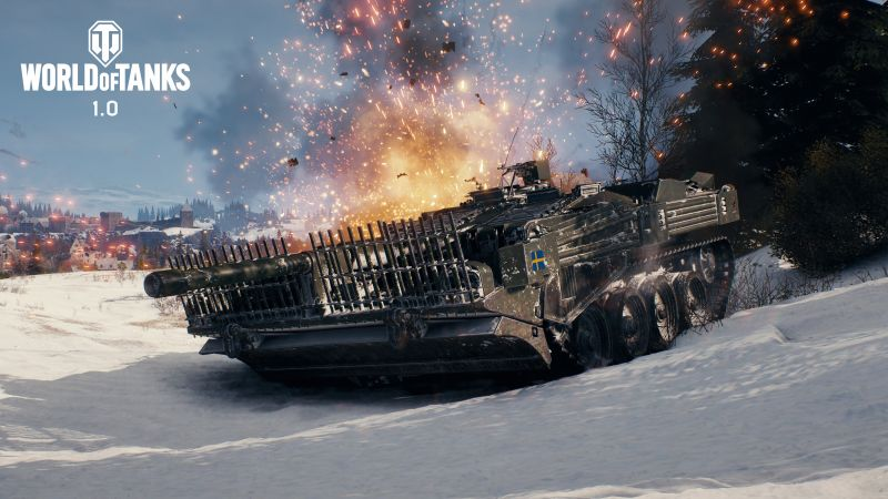 World of Tanks 1.0, Erlenberg, STRV 103 B, 4K (horizontal)