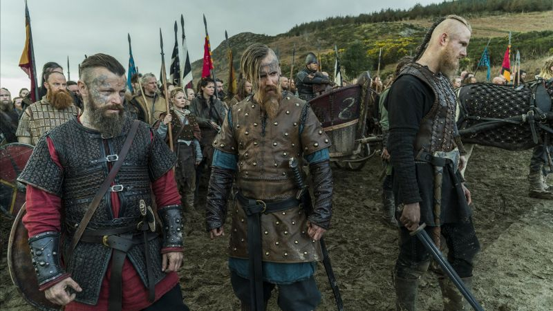 Vikings, season 5, Travis Fimmel, Katheryn Winnick, 4K, 5K (horizontal)