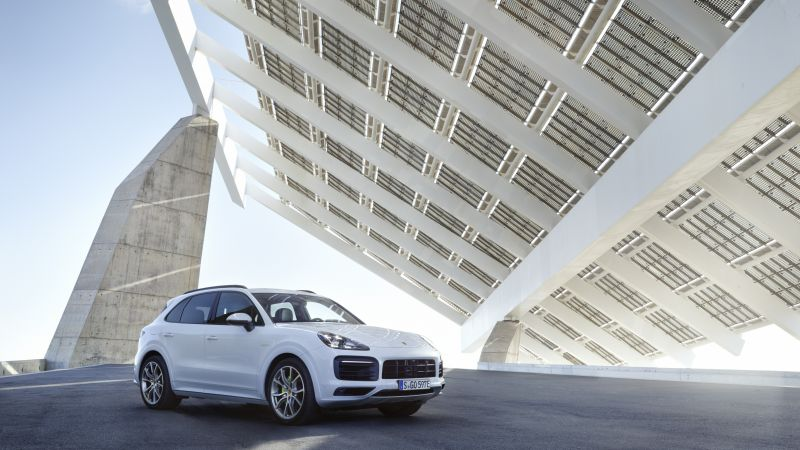 Porsche Cayenne E-Hybrid, 2019 Cars, SUV, electric cars, 4K (horizontal)