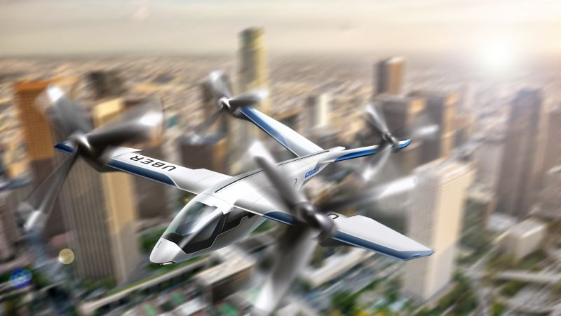 Uber Elevate Summit, Flying Taxi, 4K (horizontal)