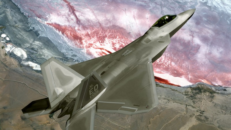 F-22, Raptor, Lockheed, Martin, stealth, air superiority fighter, U.S. Air Force (horizontal)