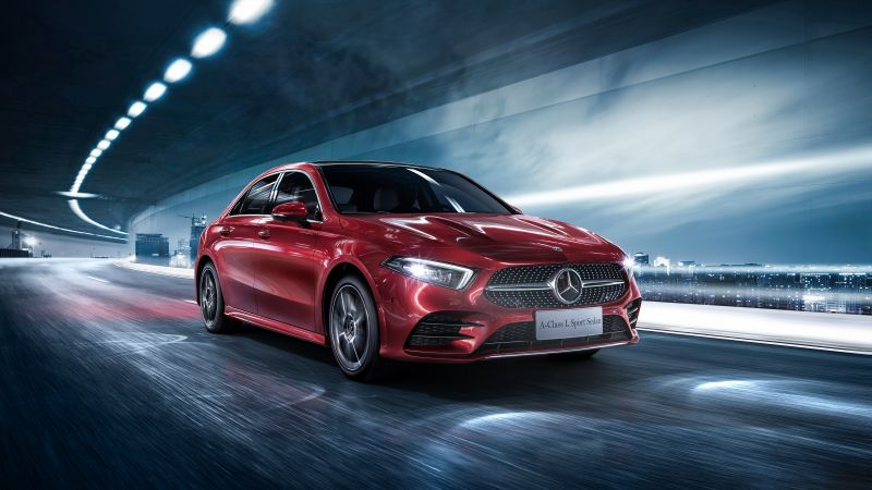 Mercedes-Benz A-Class L Sedan, 2019 Cars, 4K (horizontal)