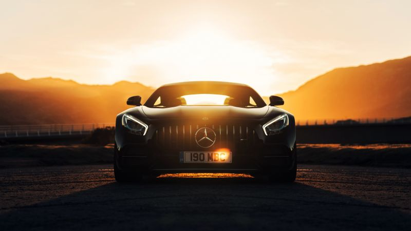 Mercedes AMG GT C, 2018 Cars, 4K (horizontal)
