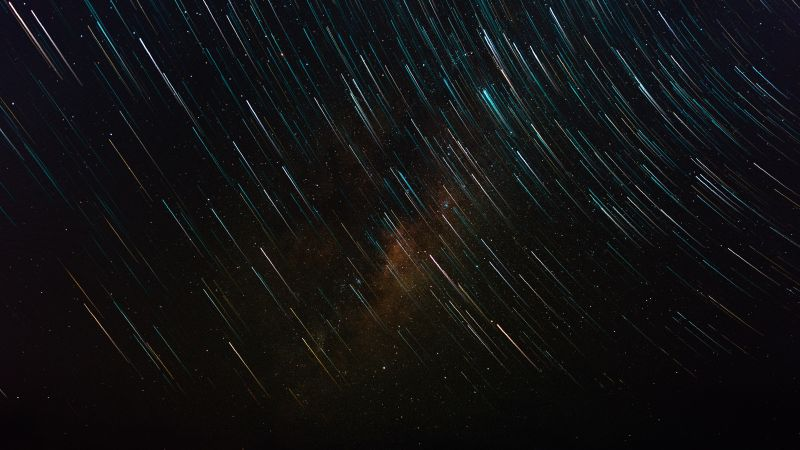 Stars Star Trail Galaxy Sky 4K 6K Horizontal