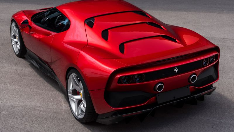 Ferrari SP38, 2018 Cars, Luxury cars, 4K, 8K (horizontal)