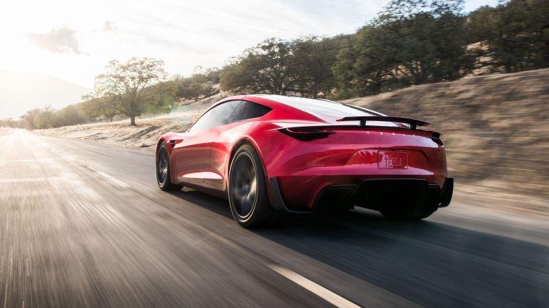 Tesla Roadster, 2020 Cars, electric car, 4K (horizontal)