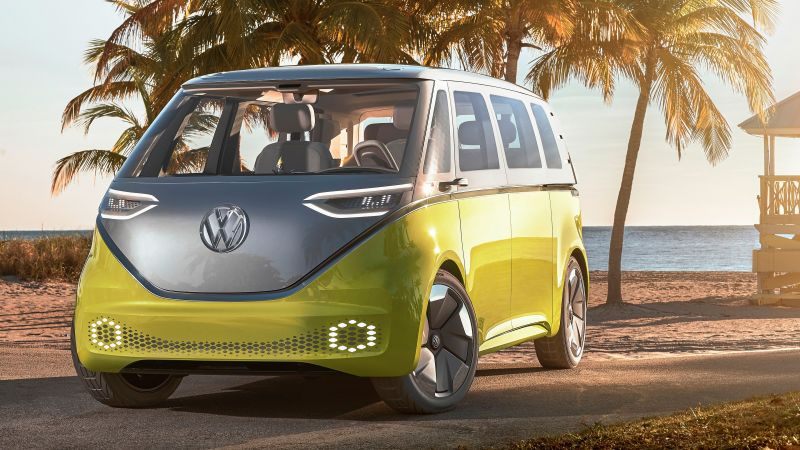 Volkswagen ID Buzz, 2021 Cars, electric car, 4K (horizontal)