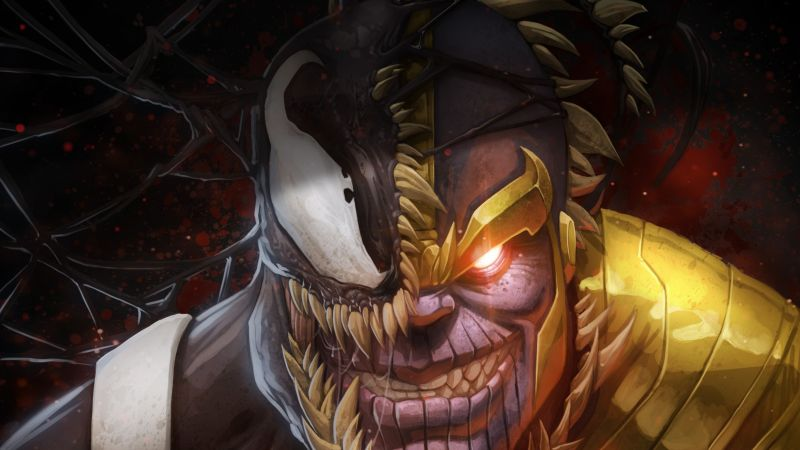 Marvel Comics, Thanos, Venom, 4K (horizontal)