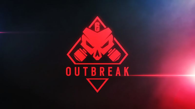 Tom Clancy's Rainbow Six Siege Outbreak, poster, logo, 4K (horizontal)