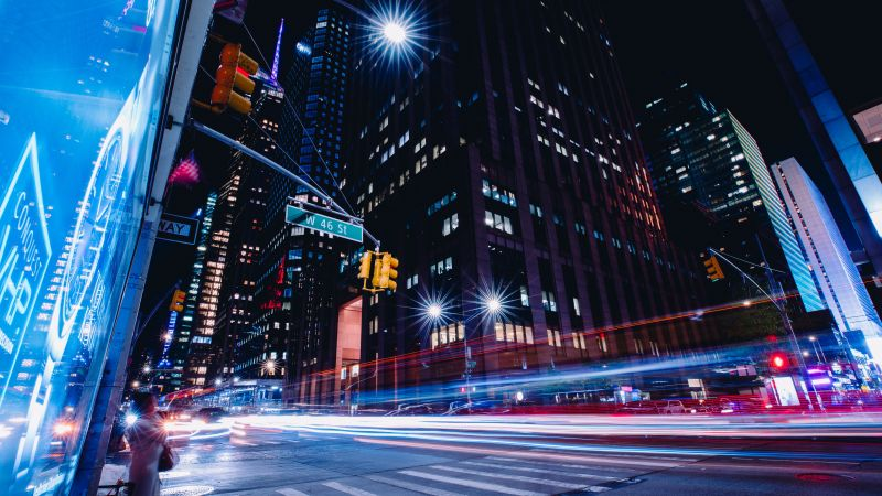 New York City, Street, Long Exposure, 7K (horizontal)