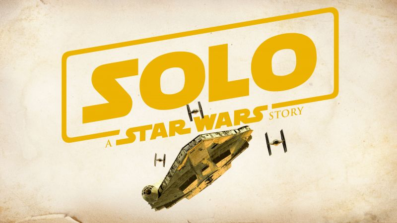 Solo: A Star Wars Story, Logo, poster, 6K (horizontal)