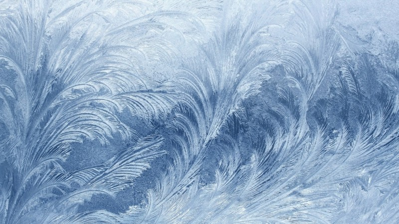 frozen, 4k, 5k wallpaper, pattern, glass, snow, winter (horizontal)