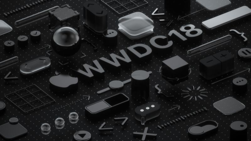 WWDC 2018, Black, 3D, 4K (horizontal)