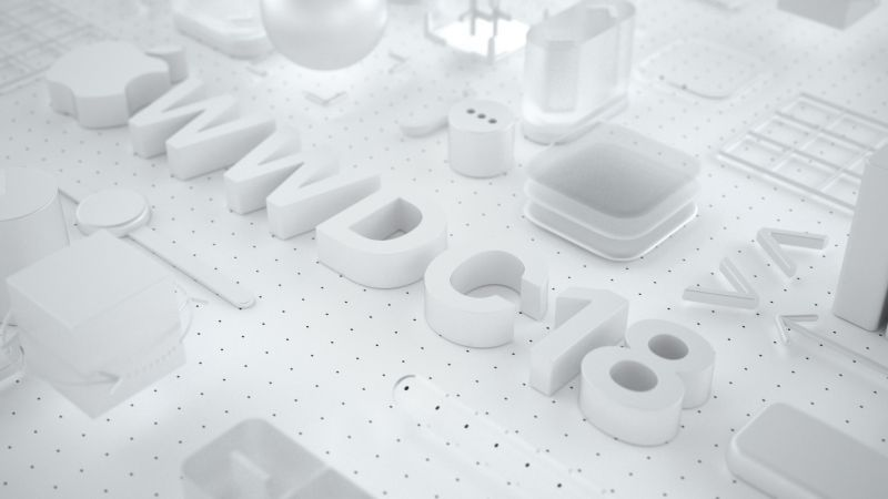 WWDC 2018, White, 3D, 4K (horizontal)