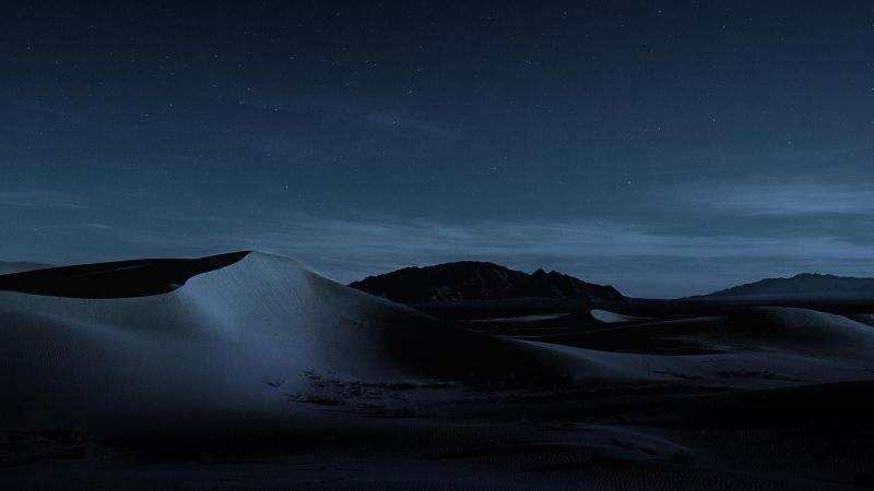macOS Mojave, Night, Dunes, 4K (horizontal)