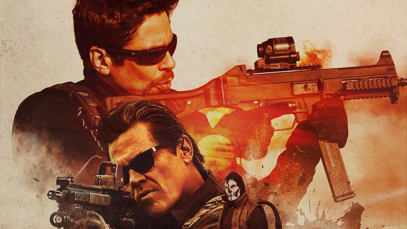 Sicario: Day Of The Soldado, Josh Brolin, Benicio Del Toro, poster, 4K (horizontal)