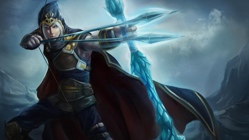 League of Legends, game, lol, MOBA, Archer, warrior, bow, arrows, coat, sight, screenshot, 4k, 5k, PC, 2015 (horizontal)