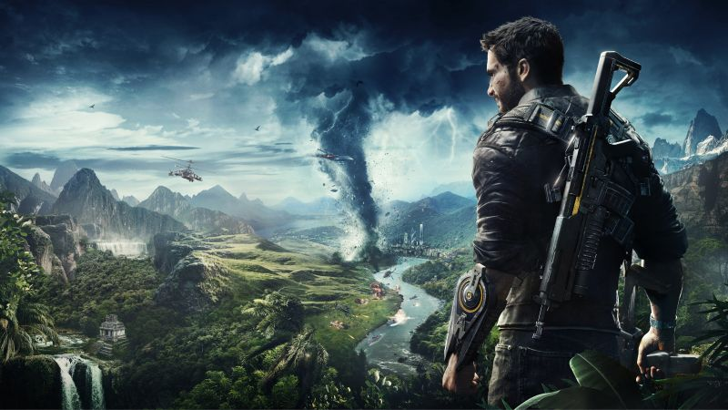 Just Cause 4, E3 2018, poster, 8K (horizontal)