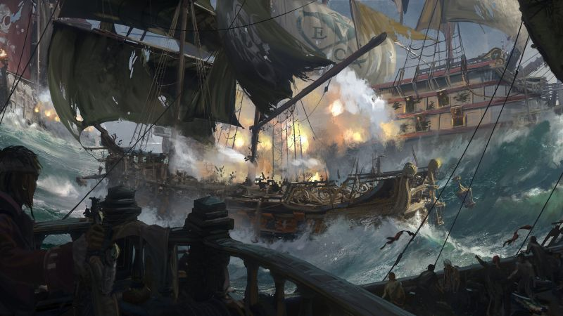 Skull & Bones, E3 2018, artwork, 5K (horizontal)
