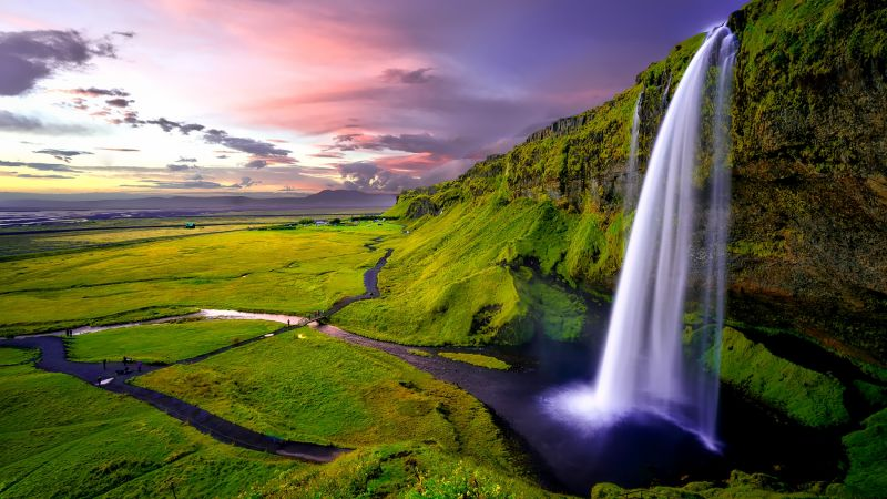 Iceland, falls, Waterfall (horizontal)