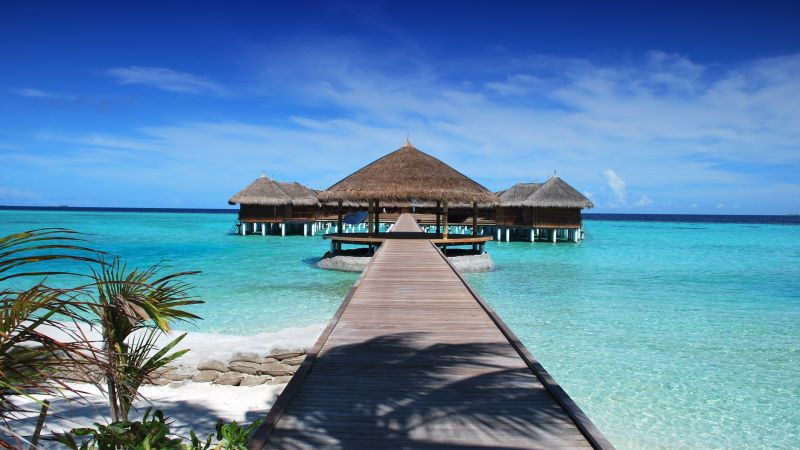 Maldives, hotel, 4K (horizontal)