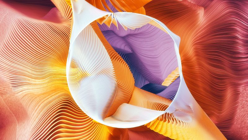 circle, abstract, 3D, colorful (horizontal)