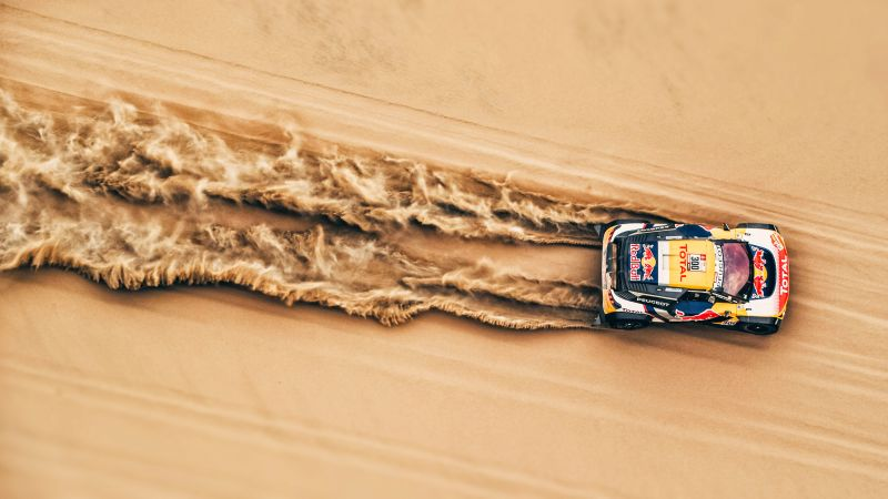 Rally, sand, 4K (horizontal)