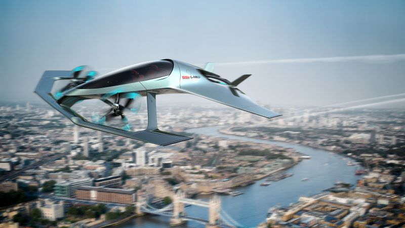 Aston Martin VVC, Flying Taxi, 8K (horizontal)
