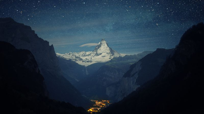 Zermatt-Matterhorn, Switzerland, Europe, 4K (horizontal)