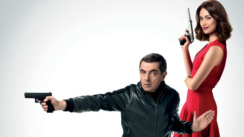 Johnny English Strikes Again, Rowan Atkinson, Olga Kurylenko, 5K (horizontal)