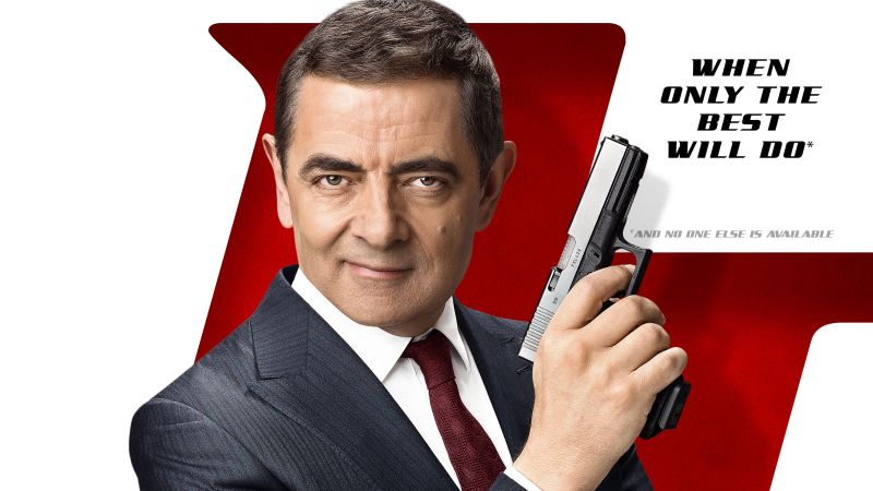 Johnny English Strikes Again, Rowan Atkinson, poster, 4K (horizontal)