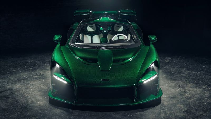 McLaren Senna GTR Green Carbon, supercar, 2018 Cars, 4K (horizontal)