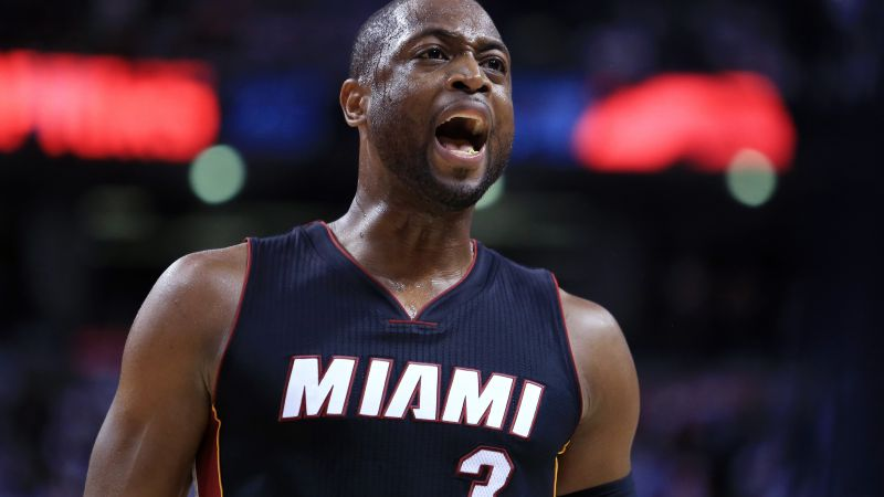 Dwyane Wade, Miami Heat, NBA, basketball, 4K (horizontal)