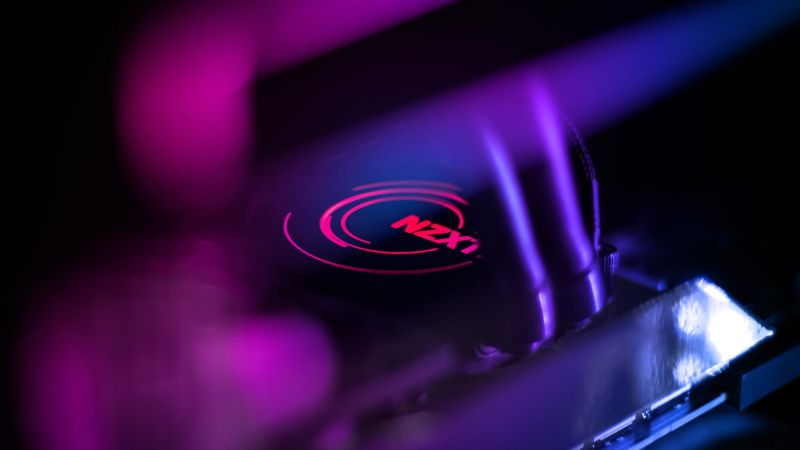 NZXT, purple, light, 4K (horizontal)