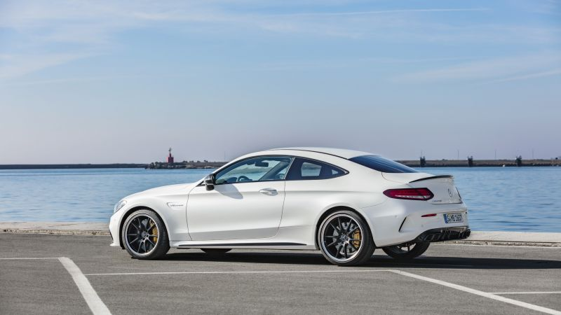 Mercedes-Benz C63 S AMG Coupe, 2019 Cars, 4K (horizontal)