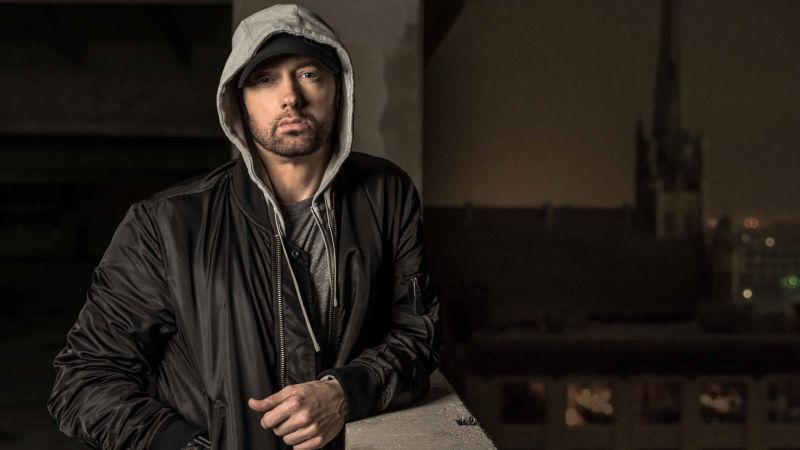 Eminem, singer, rapper, actor, 4K (horizontal)