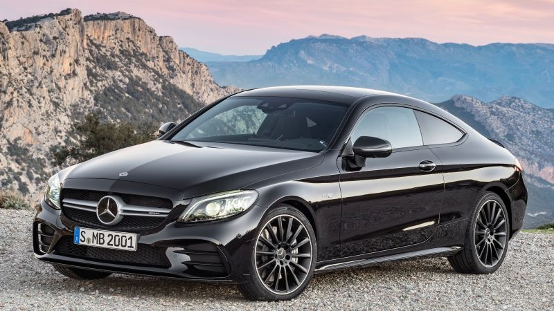 Mercedes-Benz C43 AMG Coupe, 2019 Cars, 4K (horizontal)