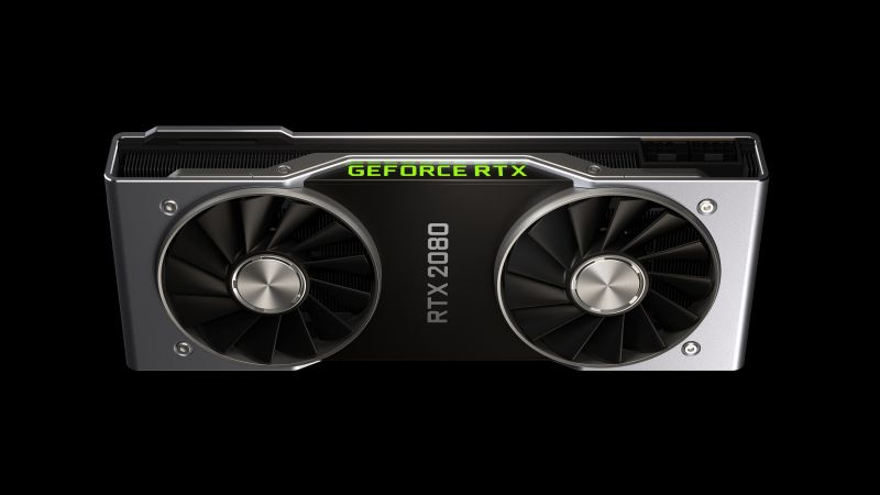 Nvidia GeForce RTX 2080, graphics card, 4K (horizontal)